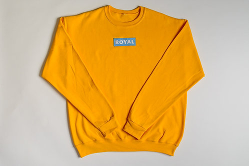 Royal SNA: Block Logo crew sweater gold/blue/white