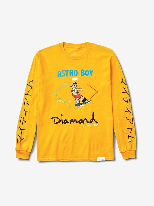 DIAMOND AND ASTROBOY LONGSLEEVE - GOLD