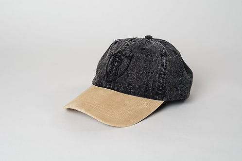 Royal SNA: Shield dad hat black denim/black/cream
