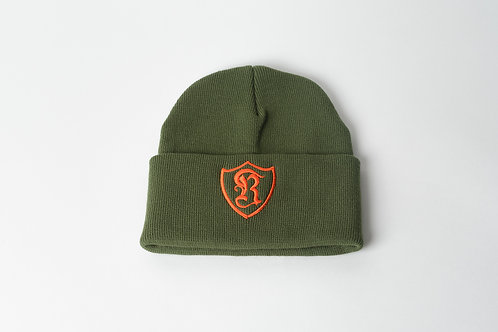 Royal SNA: Shield beanie toy soilder green/orange