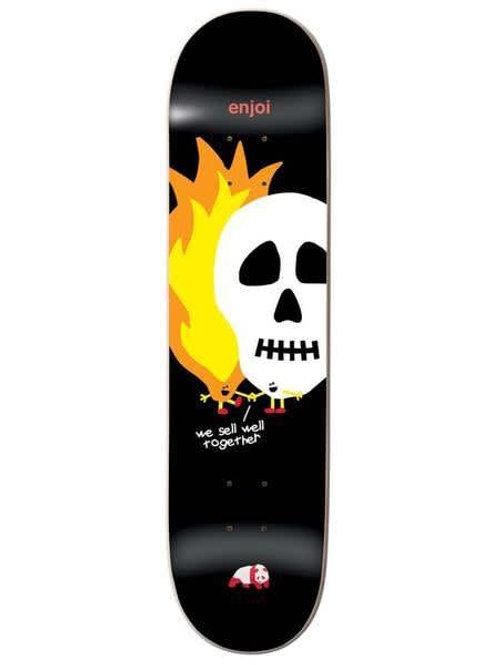 Enjoi Skateboards: Skulls and Flames Deck 8.5