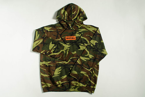 Royal SNA: Box Logo Hoodie Forest Camo/Orange