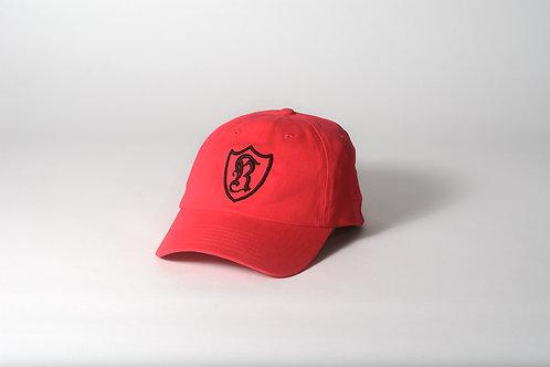 Royal SNA: Shield dad hat red/black