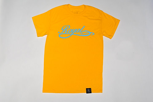 Royal SNA: Team Script Tee Gold/Scuba Blue