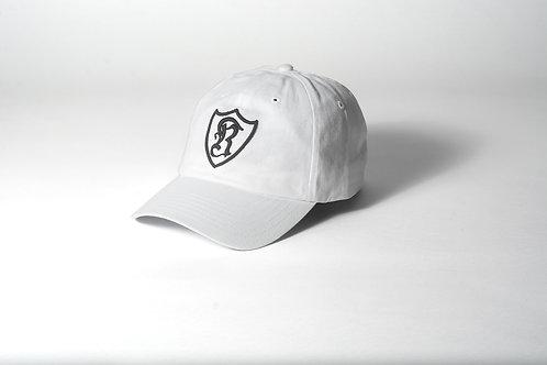 Royal SNA: Shield dad hat white/black