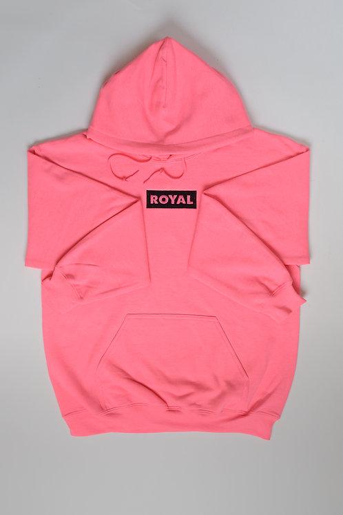 Royal SNA: Block logo hoodie majin buu pink/black