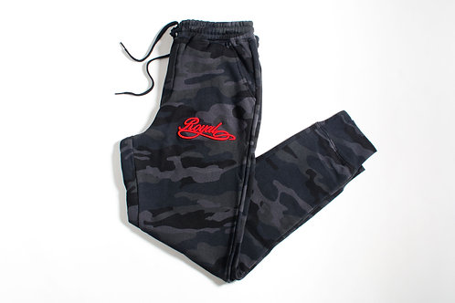 Royal SNA: Script Logo Jogger Umbra Camo/Red