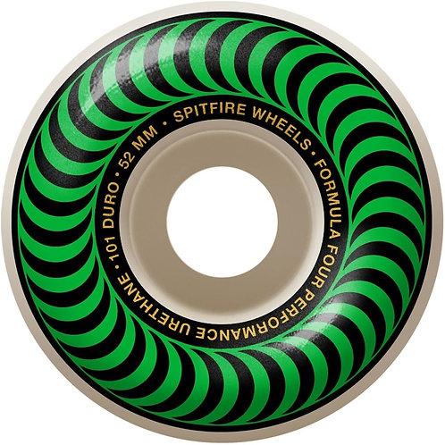 Spitfire Wheels: Formula 4s Classic Swirl Green 52mm