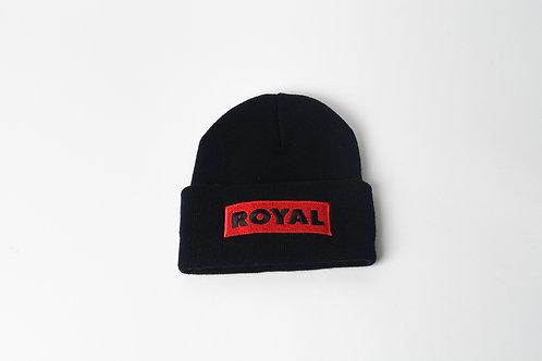 Royal SNA: Block logo beanie black/red