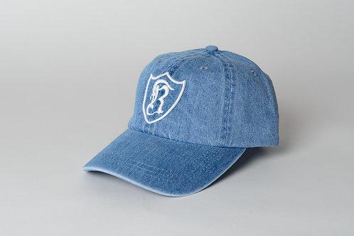 Royal SNA: Shield dad hat blue denim/white