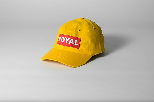 Royal SNA: Block Logo dad hat gold/red