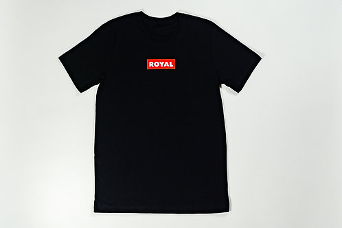 Royal SNA: Block Logo tee black/red/white