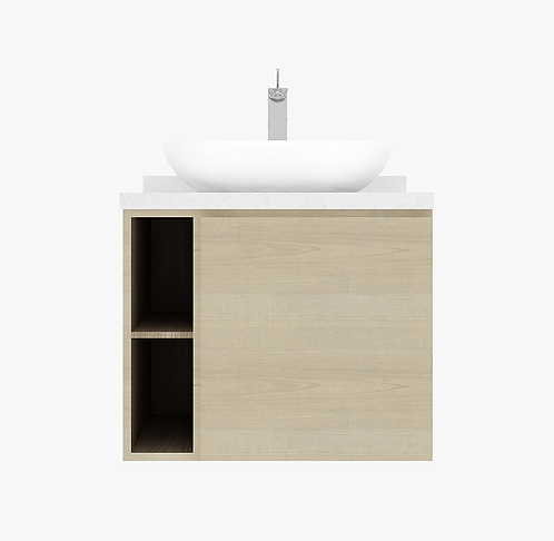 BONDI 75cm vanity cabinet with single door with basin and tap