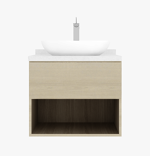 SIMMONS 75cm vanity cabinet drawer with basin and tap