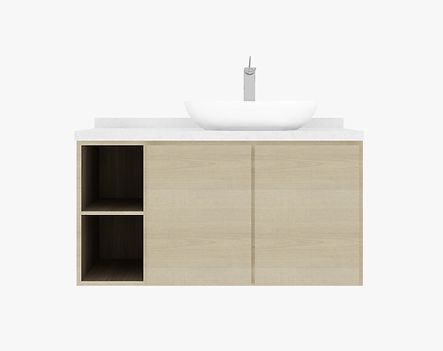 DOVER 1.20m vanity cabinet 2 Doors with basin and tap