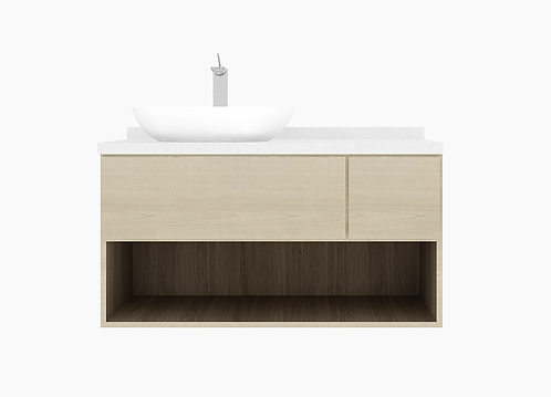 HENLEY 1.20m vanity cabinet drawer with basin and tap