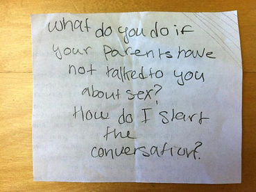 A real life student question about parent-child communication.
