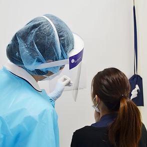 nasopharyngeal swab PCR test in Tokyo