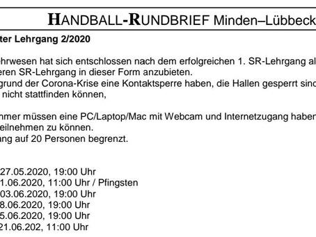 Interessierte aufgepasst: Handball-Schiedsrichter-Lehrgang im Mai/Juni
