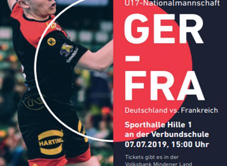Handball-Länderspiel in Hille
