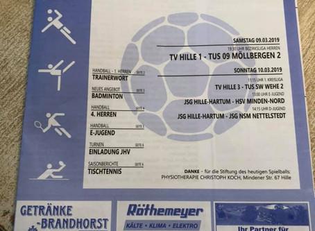 Achtung: Spiel der 1.Herren gegen TuS 09 Möllbergen 2 abgesagt!!