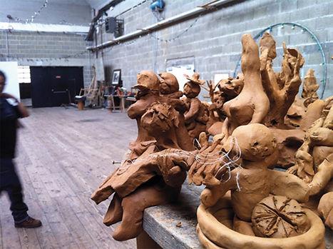 Sculpture Atelier poterie ESA-ATIS de la Flèche rencontres Encore heureux... 2017