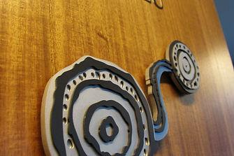 Downer EDI offices Aboriginal art interiors