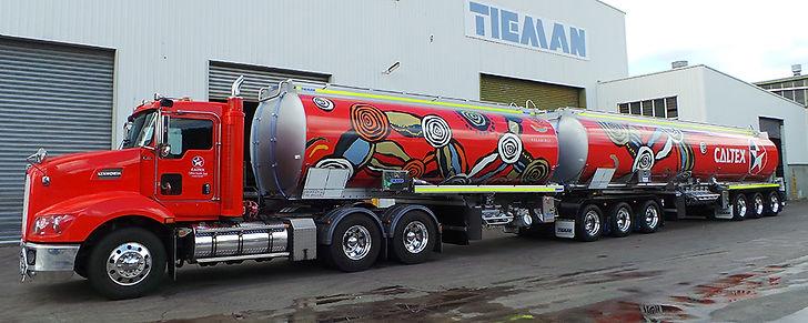 Balarinji Caltex Aboriginal art tanker