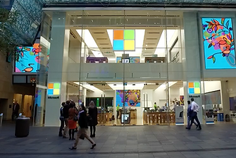 Sydney Microsoft Store Aboriginal Art Video Walls