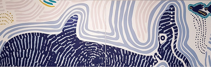 RMS office Aboriginal artwork acoustic wall mural