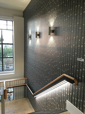 RMS office Aboriginal artwork wallpaper interiors