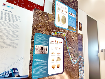 Sydney Metro NAIDOC Display Wall