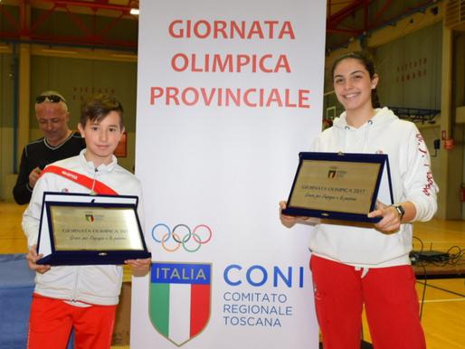 GiornataOlimpica 2017, premiati Bertini, Iacomoni e la Maestra Mantovani.