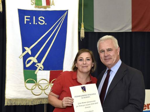 Il Pisascherma premiato come migliore società d' Italia nel fioretto U14.