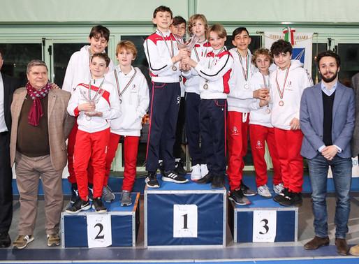 Campionato Italiano GPG a squadre: Pisascherma Strepitoso, 1 argento, 1 bronzo, un quarto e 2 top 8