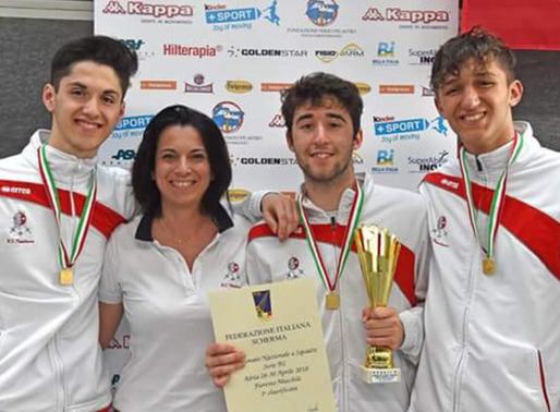 IL FIORETTO MASCHILE è CAMPIONE ITALIANO B2, Marco Rossi, Francesco Valori V. e Alessandro Valori V