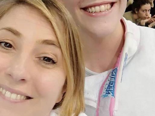 Letizia Campani e la Maestra Elisa Vanni agli Azzurrini di spada