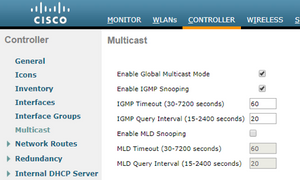 Multicast on WLC