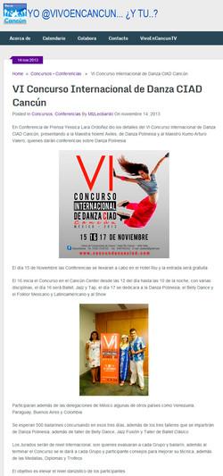 Concurso Internacional Danza Cancún
