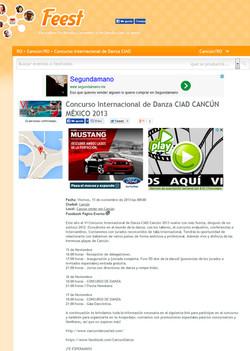 Concurso de Danza CIAD Cancún 2013