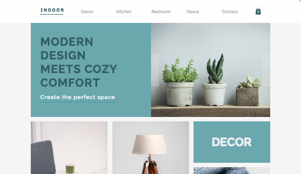 Online Store website templates – Home Decor