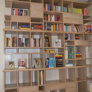Bibliotecă lemn masiv