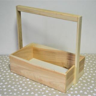 Cutie lemn cu mâner mare