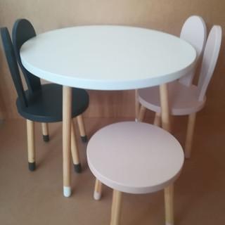 Set măsuţă rotundă cu trei scaune