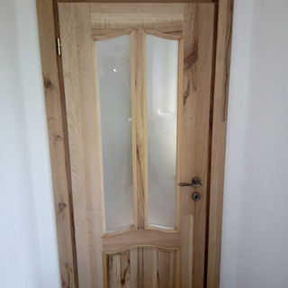 Uşă lemn masiv cer de interior