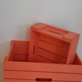 Lădiţe lemn masiv colorate
