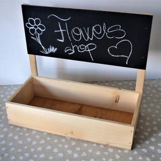 Cutie lemn cu tablă de scris