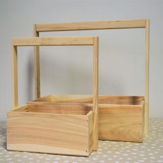 Cutii lemn cu mâner