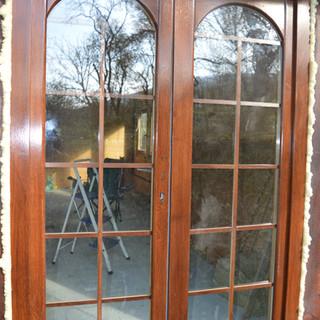 Uşă lemn masiv de exterior terasă
