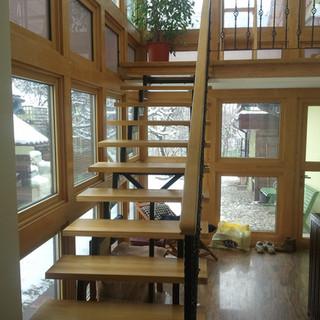 Perete cortină lemn masiv